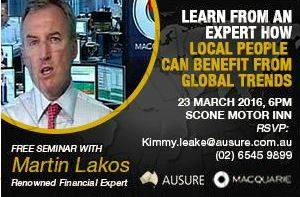 Free Seminar with Martin Lakos, renowned financial expert