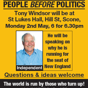 Scone Town Meeting with Tony Windsor