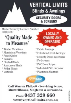 Vertical Limits Blinds & Awnings
